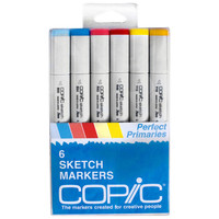 Copic® Sketch Marker Set, Perfect Primaries