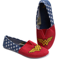 DC Comics Wonder Woman Slip-On Shoes