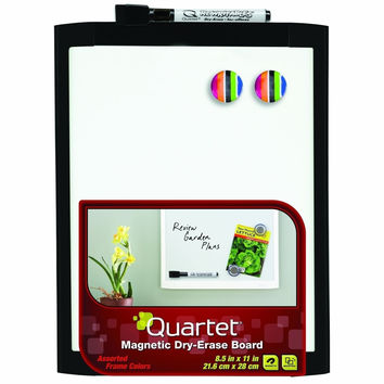 Quartet Magnetic Dry-Erase Board 8 1/2 x 11 Inches Black Frame (MHOW8511-BK)