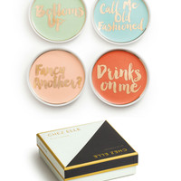 """Chez Elle"" Decorative Coasters Set of 4 - Cocktails"