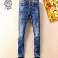 Boys & Men Versace Fashion Casual Pants Trousers Jeans