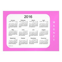 2016 Orchid Calendar by Janz 7x5 Magnet Magnetic Invitations