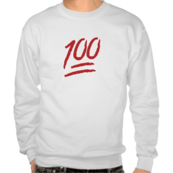 Hundred Points Symbol Emoji Pullover Sweatshirts