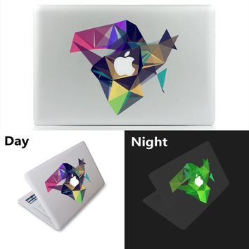 "Fluorescent Light 3D graphics Vinyl Decal Laptop Sticker for macbook Pro Air 11"" 13"" 15"" inch Cartoon laptop Skin shell Notebook"