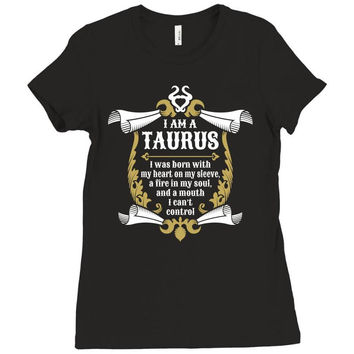 I Am A Taurus Ladies Fitted T-Shirt