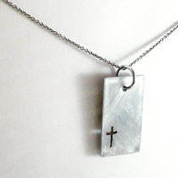 Christian Cross Necklace - Cross Pendant - Modern Christian Jewelry - Faith Jewelry - Christian Jewelry - Bible Jewelry