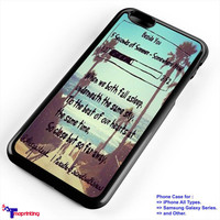 5SoS 5 Seconds of Summer Lyrics 1 - Personalized iPhone 7 Case, iPhone 6/6S Plus, 5 5S SE, 7S Plus, Samsung Galaxy S5 S6 S7 S8 Case, and Other