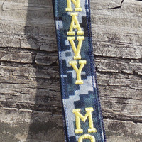 US Navy Mom, Navy NWU, Embroidered Lanyard, Military, Armed Forces