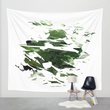 Abstract Acrylic Painting Broken Glass THE FOREST --Modern art Wall Tapestry by Saribelle Inspirational Art | Society6