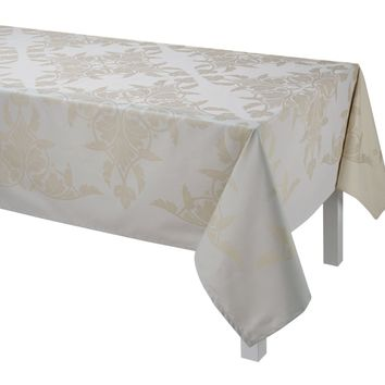 Syracuse Enduit Coated Table Linens in Beige