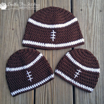 Football Beanie Hat in Newborn to Child Sizes