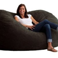 Comfort Research 6-Foot XL Fuf in Comfort Suede, Black Onyx: Home & Kitchen