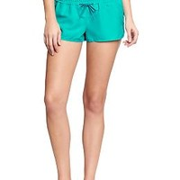 "Women's Smocked-Waist Swim Shorts (2"")"
