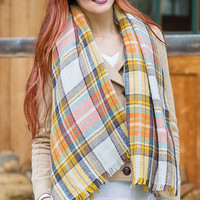 Blanket Scarf YELLOW/ORANGE