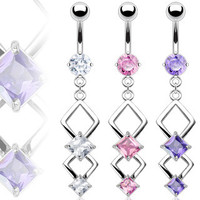 Belly Ring-Dangling 2 Tier