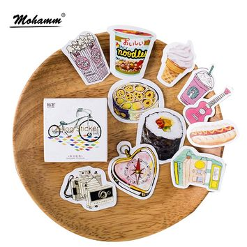 45 Pcs/box Cute Interesting Life Item Papers Stickers Flakes Vintage Romantic Love For Diary Decoration Diy Scrapbooking Sticker