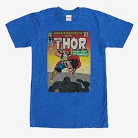 Marvel Thor Comic Book Cover Print T-Shirt