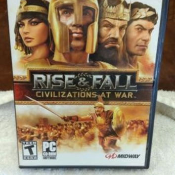 Rise & Fall: Civilizations at War (PC/DVD-ROM) Tested & Works! (PC Engine) (DVD)
