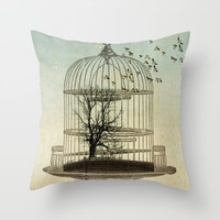 no limits Throw Pillow by Vin Zzep