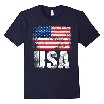 USA Flag T-Shirt | US United States of America Tee Gift
