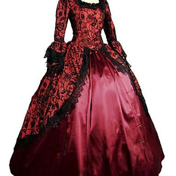 Medieval Victorian Costume Women's Dress Masquerade Party Costume