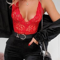 Hot Deal Cute On Sale Sexy Lace Tops Spaghetti Strap Exotic Lingerie