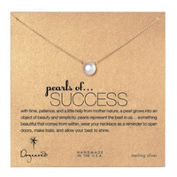 Dogeared, Pearls of Success White Pearl Necklace, Gold Dipped 18 inch