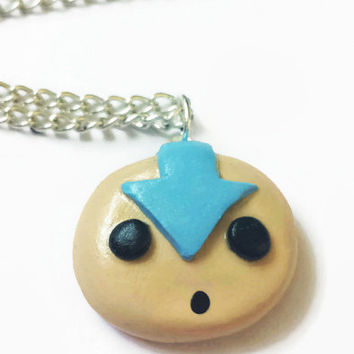 Airbender Aang Avatar Chibi Pendant Necklace Polymer Clay - Last Airbender Avatar Charm