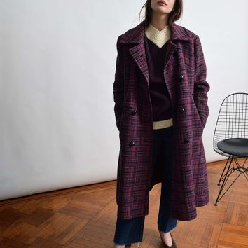 Vintage 1960s Purple Statement Coat