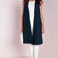 Missguided - Sleeveless Duster Teal