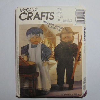 McCall's Craft Sewing Pattern 5464 Grandpa and Grandma Dolls and Clothes