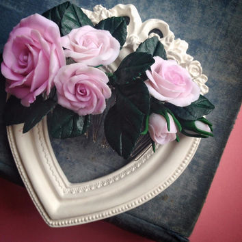 Rose hair comb, bridal head piece, bridal accessories, hair accessories for wedding, wedding hair flowers, rose flower jewelry, rose hair