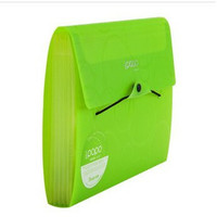 Shuter 7 Pockets A4 Expanding Accordion File Folder with Elastic String and Button Closure,and Subject Labels.(Green)