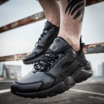 Nike Air Huarache 3 ALL BLACK Men and Women running shoes 36-45