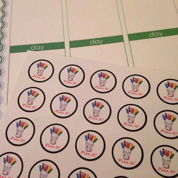 Set of 48 Pre-Cut Plan It Stickers   - Perfect for your planner or scrapbook