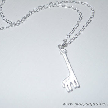 Giraffe Necklace in Silver  Animal Charm  by morganprather on Etsy