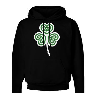 Celtic Knot Irish Shamrock Dark Hoodie Sweatshirt