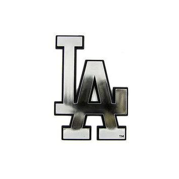 Licensed Official New MLB Los Angeles LA Dodgers 3-D Chrome Plastic Car Truck Emblem Made in USA
