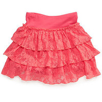 Beautees Girls Skirt, Girls Lace Scooter Skirt - Skirts - Macy's