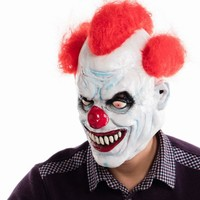 Ashanglife Joker Clown Costume Mask Creepy Evil Scary Halloween Clown Mask Adult Ghost Festive Party Mask Supplies Decoration
