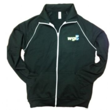 Black Color Embroidered Track Jacket: Winter Guard International Store