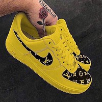 LV Louis Vuitton Nike Air Force 1 Low-end casual sneakers