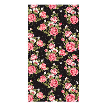 Roses on Black Towel