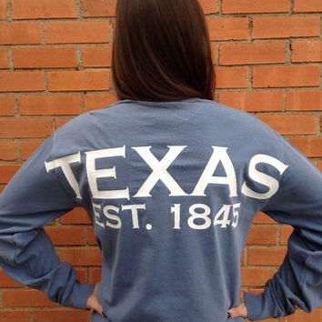 Texas spirit long sleeve t-shirt lone star state or customize your own