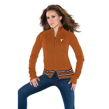 Touch by Alyssa Milano Texas Longhorns Women's Full-Zip Sweater Mix Jacket