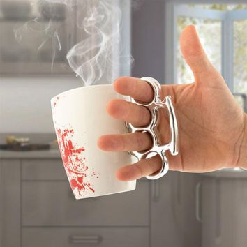 Bloody Mug with Brass Knuckles