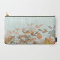 Floral Impressions Carry-All Pouch by ALLY COXON | Society6