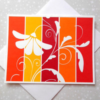 Sunny Blossoms Color Block Blank Cards 8ct
