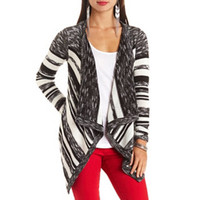 MARLED STRIPE CASCADE CARDIGAN SWEATER