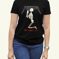 Kanye West Yeezus Black Women Clothing High Quality tee S,M,L and XL (Y6)